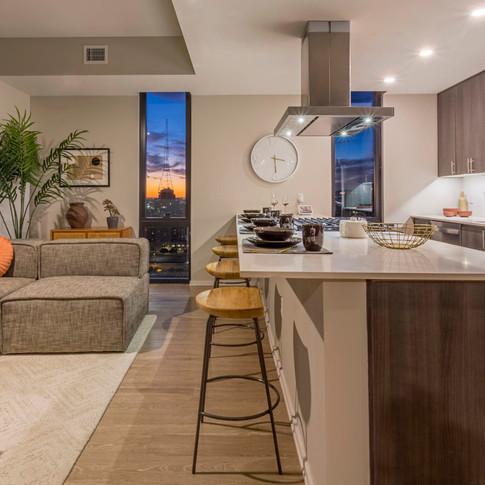 Luxury Model Unit Living Room and Kitchen Styling  | Kuchar