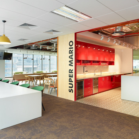 Confidential Singapore Financial Firm Office Design Lounge and Kitchen | Kuchar