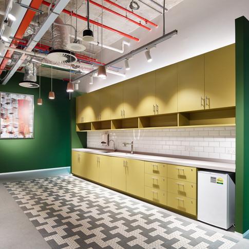 Confidential Singapore Financial Firm Office Kitchen Design | Kuchar