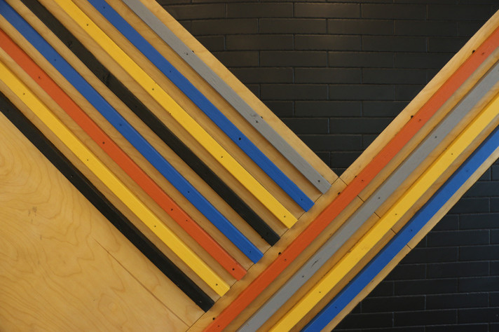 Painted Wood Accent Detail