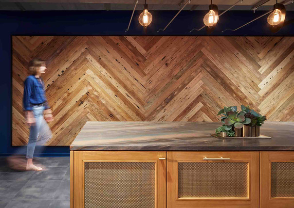 Reused Wood Accent Wall