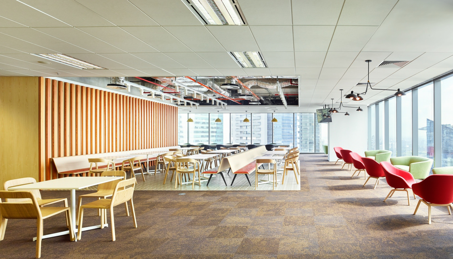 Confidential Singapore Financial Firm Office Lounge Design | Kuchar