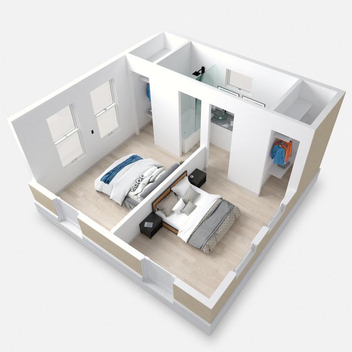 2 Bedroom Box