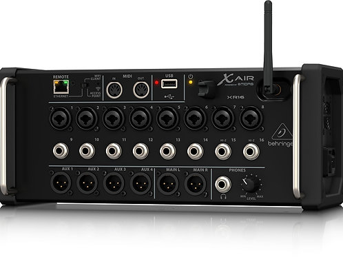Behringer X AIR XR16 16-Input Digital Mixer for iPad/Android Tablet Mixing