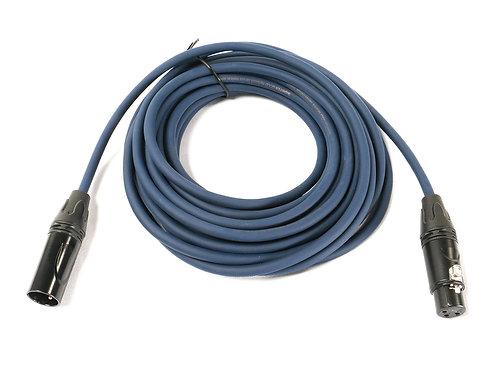 SuperFlex GOLD SFM-25 Midnight Colored Premium 25' Microphone Cable