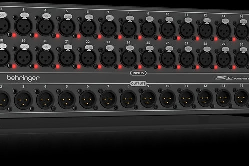 Behringer S32 I/O Box Digital Snake w/32 Preamps and 16 Outputs