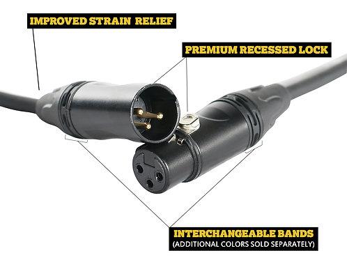SuperFlex GOLD SFM-25 Jade Colored Premium 25' Microphone Cable