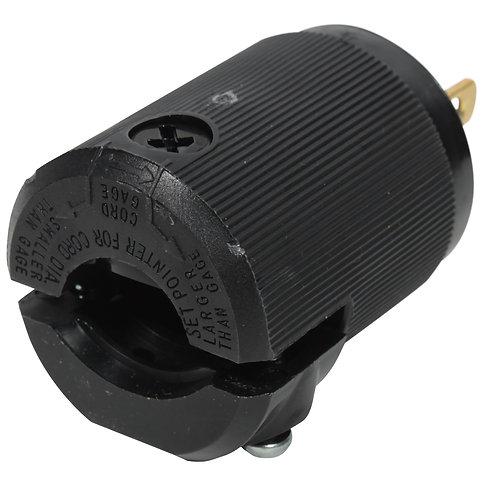 Hubbell 5266 AC Male Edison Plug 15 Amp - Black