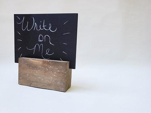 Mini Chalkboard w/ Wood Stand