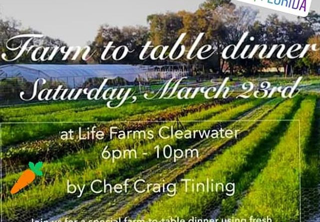 Join us for our first Farm-to-Table Dinn