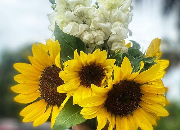 Flowers, Snap Dragon Sunflower Bouquet