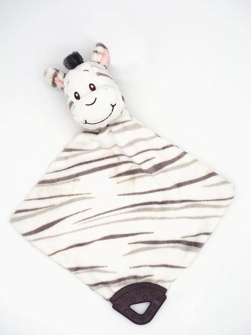 Schmusetuch Zebra mit Beißring