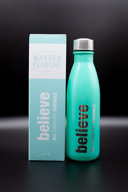 """Wasserflasche """"believe"""" mint"""