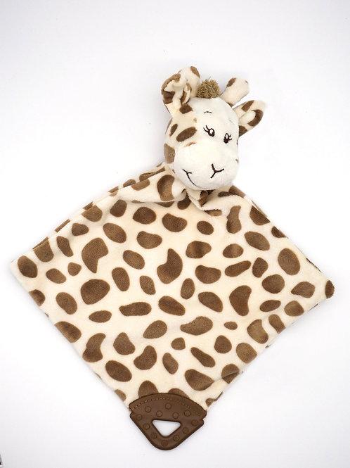 Schmusetuch Giraffe mit Beißring