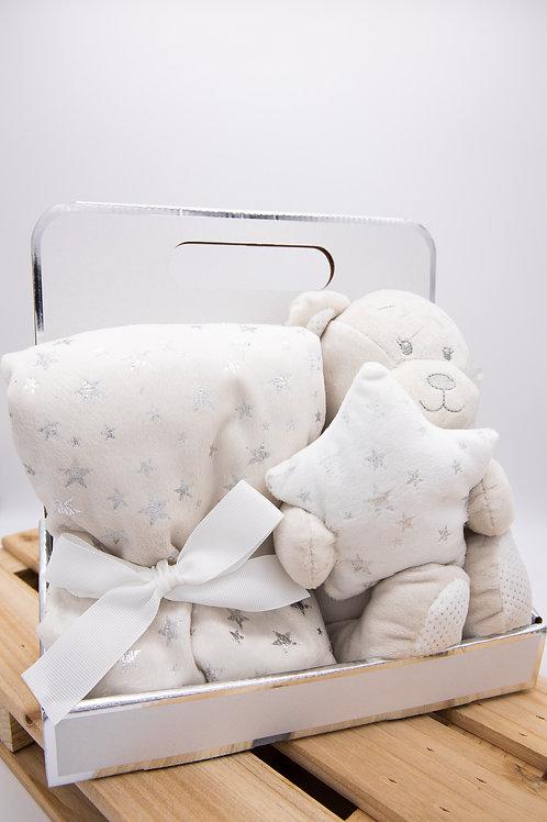 Baby-Set Kuscheldecke und Bär