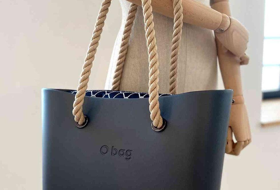 """SAC """"O BAG XL"""" (poignées longues & sac intérieur) -  MARINE"""