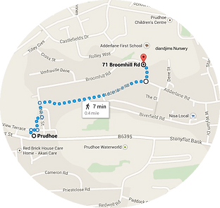 Walking to us map