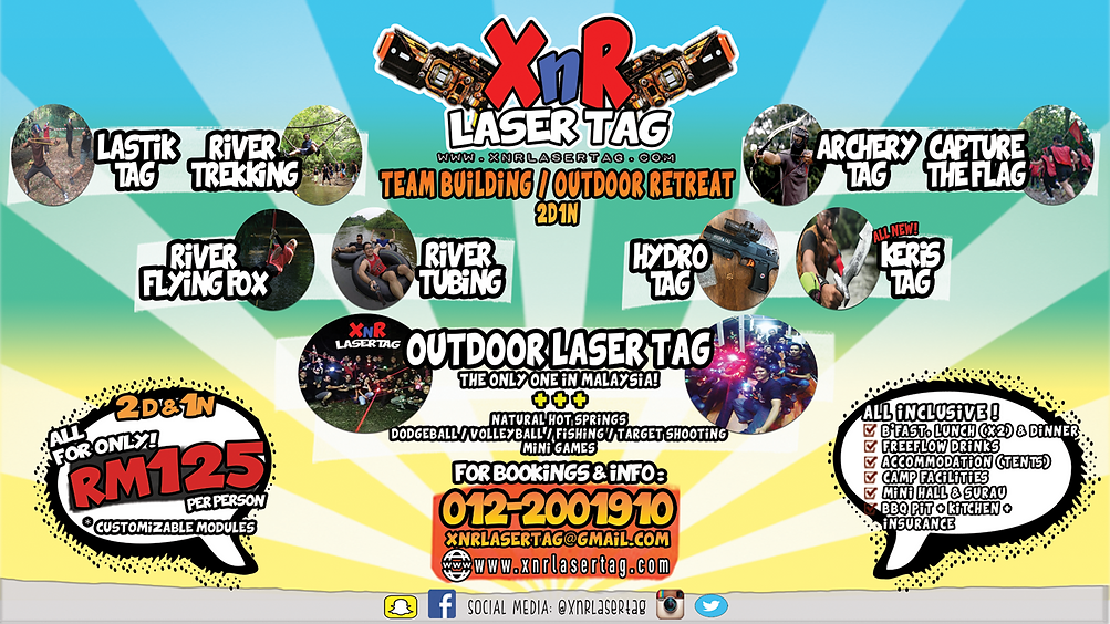 Full Package 2D1N XnR Laser Tag Outdoor Camp