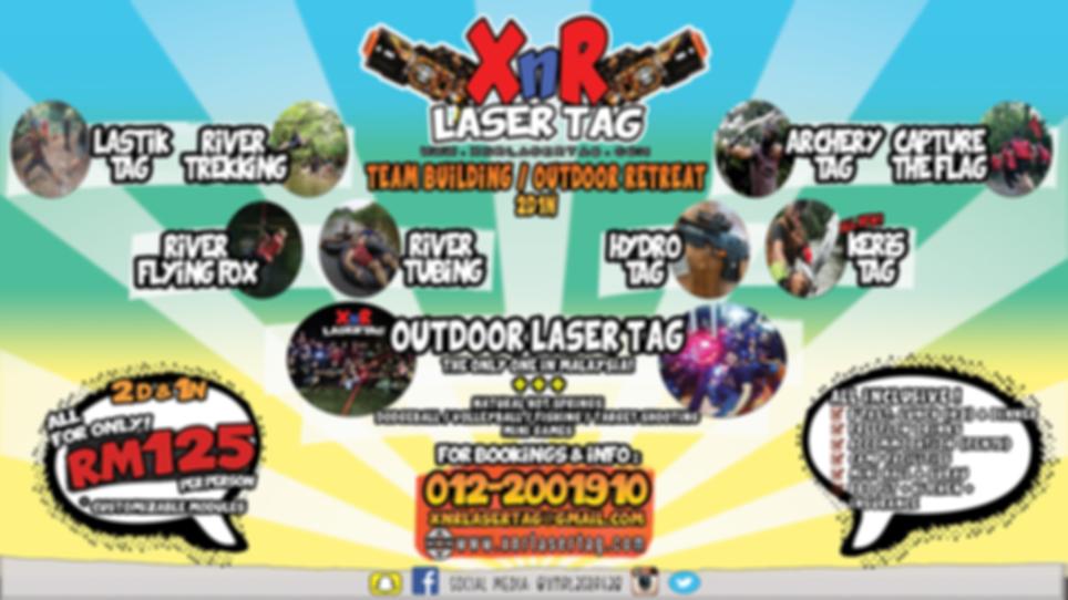 XnR Laser Tag Full Package 2D1N