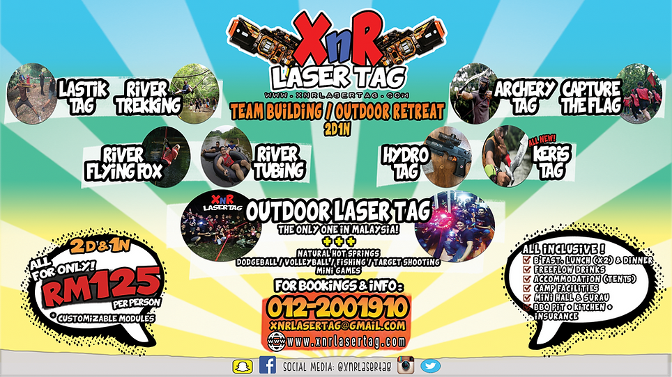 XnR Laser Tag Full Package 2D1N