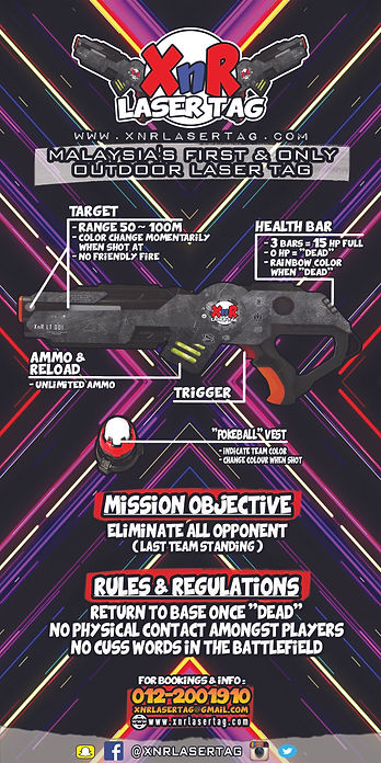 XnR Laser Tag Banner Info and Details
