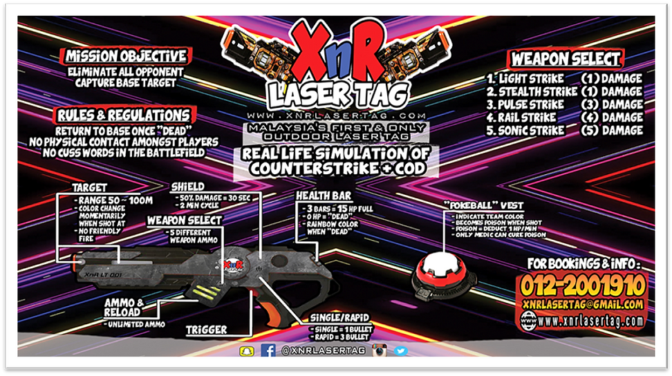 XnR Laser Tag Full Package Outdoor Laser Tag