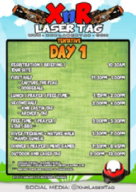 XnR Laser Tag Tentative Day 1