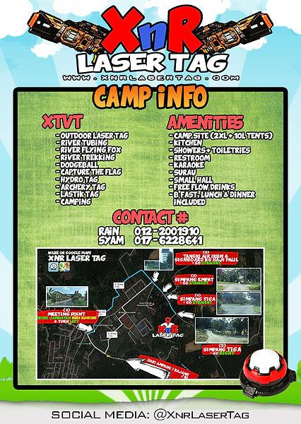 XnR Laser Tag Camp Info Details