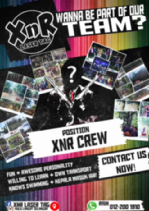 XnR Laser Tag Outdoor Camp Crew Recruitment