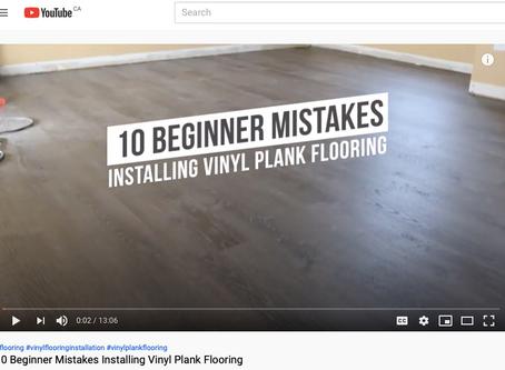 Beginner Mistakes Installing Vinyl Plank Flooring