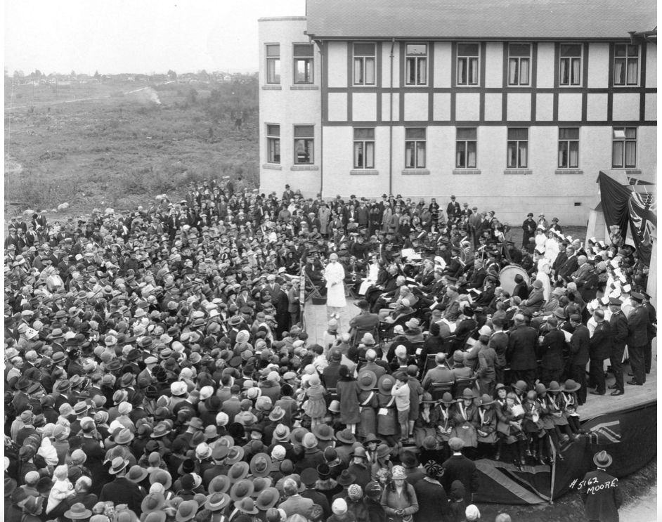Grace Hospital opening in Vancouver, circa 1927