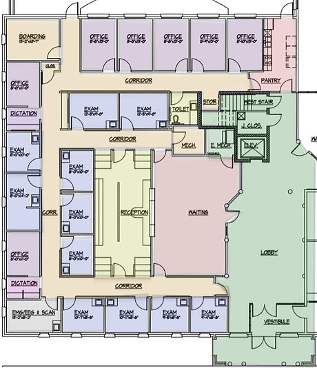 Medical Office Building For Lease - Suite 100 - Floor Plan