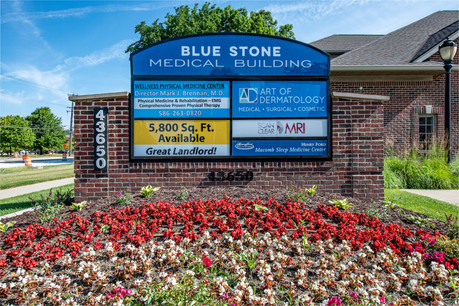 Blue Stone Medical Building - Front Monument Sign