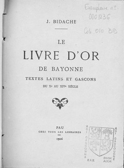 Livre d'or Transcription J.B