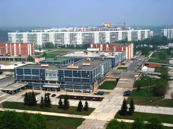 Общественно-торговый центр посёлка. архи
