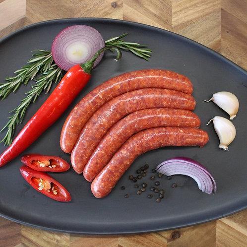 Beef Smokey Texan Sausages (GF)