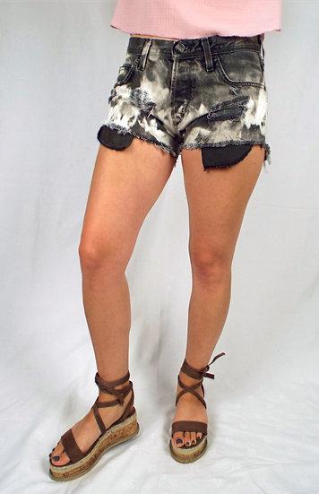 Black & white acid wash LEE shorts SIZE 12 UK