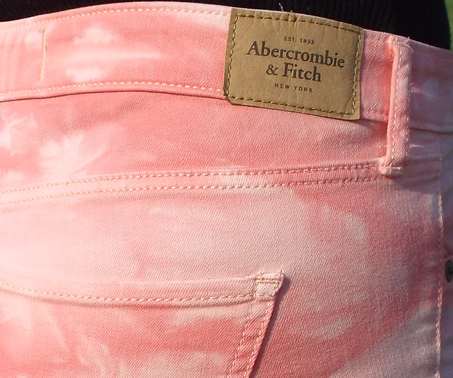 Abercrombie & Fitch Peach Skinny Jeans SIZE 8 UK