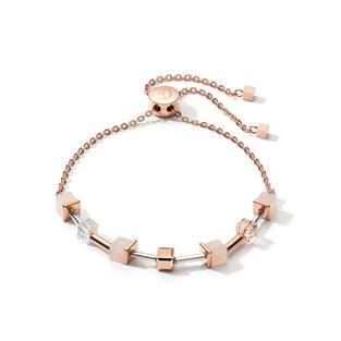 Armband GeoCUBE® rosa Aventurin zartes Kettchen roségold-peach