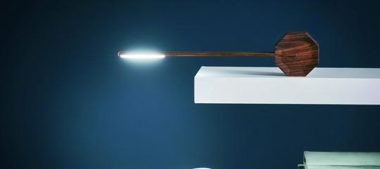 Award-winning Octagon Desc Light - Walnut