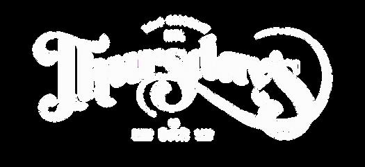 Logo Thursday's Montreal Le Bar, en blanc