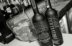 Bottles of Belvedere Vodka
