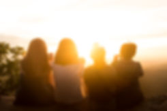 Group of women watching the sunset
