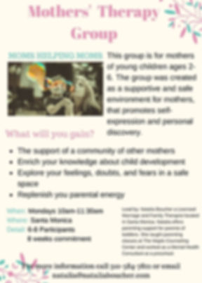 Flyer Mothers' Therapy Group