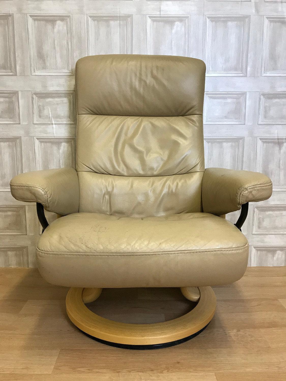 Sensational 1 Of 2 Ekornes Stressless Atlantic Leather Recliner Armchair Creativecarmelina Interior Chair Design Creativecarmelinacom