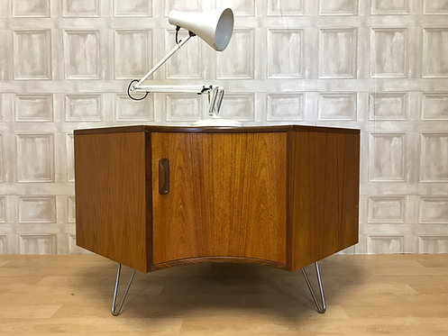 Mid Century Teak Retro G Plan Fresco Corner Unit - Hairpin Legs