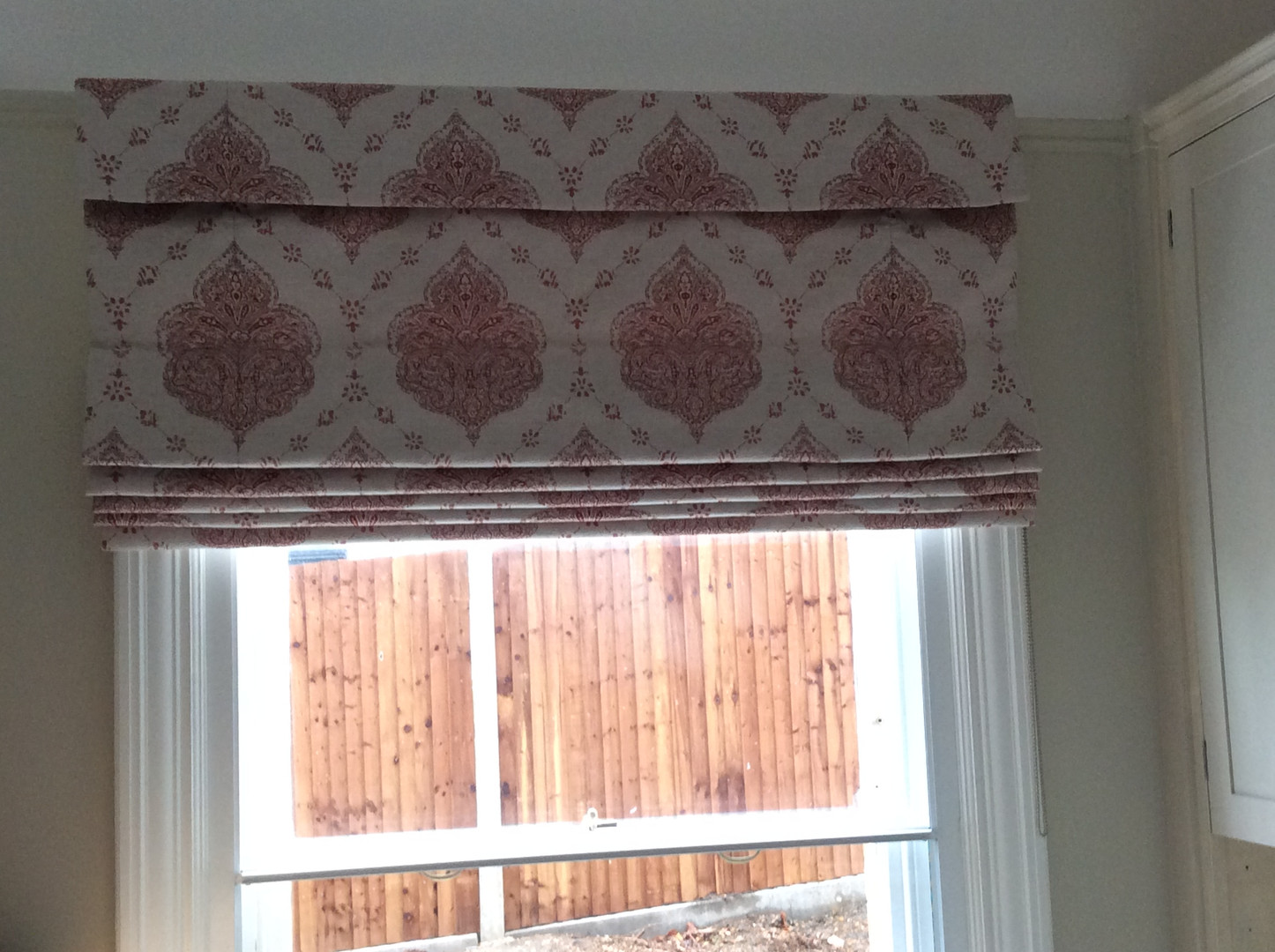 Roman Blinds with Pelmet