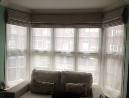 Roman Blinds for Bay Windows