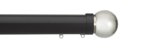 Glass ball, clear, 50mm , black pole, pa
