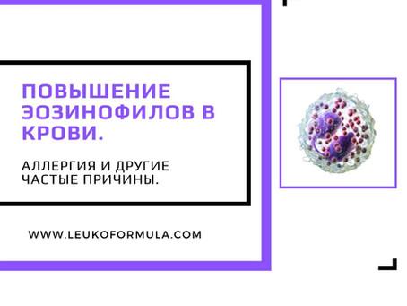 Повышение эозинофилов в крови. Аллергия и другие частые причины.